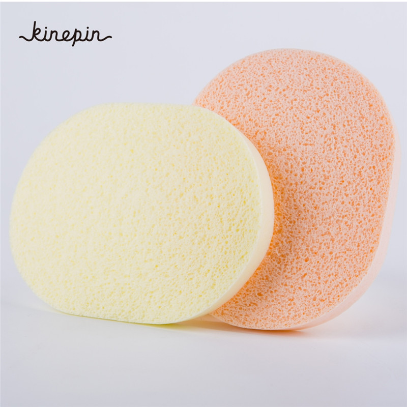 2pcs Facial Cleansing Sponge The Honeycomb Cellular Structure Of Sponge Easily Foam Ladies Face Wash Cleansing Sponge Puff Beauty Essentials Cosmetic Puff