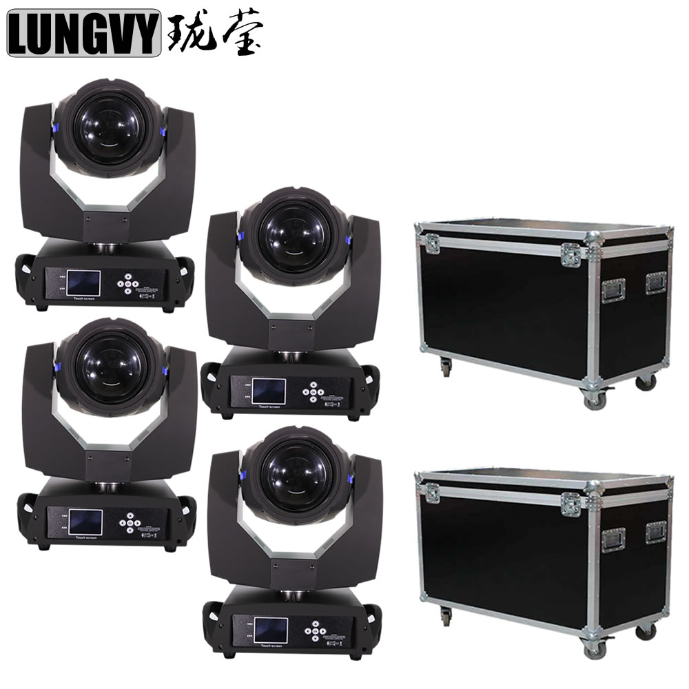Free Shipping 4pcs Lot 230W 7R Disco Sharpie Dj Pro Stage Beam Moving Head Light Party