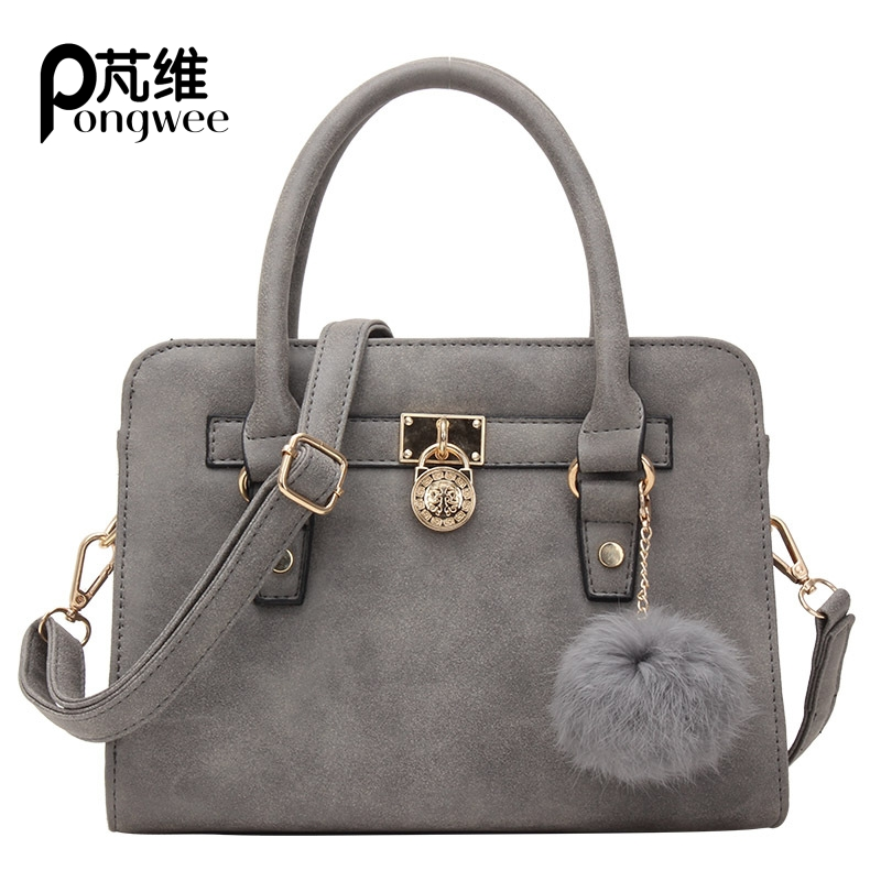 PONGWEE Herald Fashion PU Leather Top-handle Women Handbag Solid Ladies Shoulder Bag Fashion Large Capacity Tote Crossbody Bags 2016 new fashion embossed grid women s genuine leather tote bag top handle handbag ladies shoulder bag crossbody purse