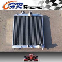 Radiador central de aluminio para Honda Civic EK EG B16 B18 92 00, 32MM, tubo de entrada/salida, 3