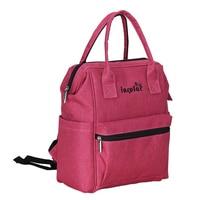 insular Fashion Nylon Backpack Waterproof Backpack Women Tote Bag Rose red