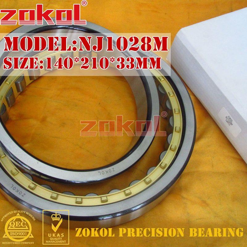 ZOKOL NJ1028 M bearing NJ1028M 42128H Cylindrical roller bearing 140*210*33mm mochu 22213 22213ca 22213ca w33 65x120x31 53513 53513hk spherical roller bearings self aligning cylindrical bore