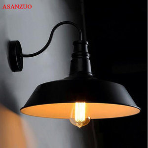 Image 1 - Americano retrò lampada da parete industriale vecchia strada lampada camera da letto corridoio balcone creativo lampada da parete in ferro