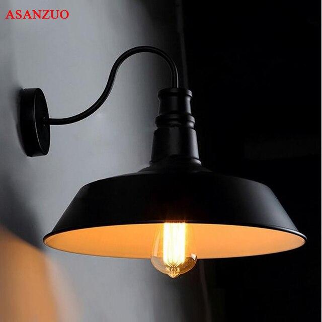 Americano retrò lampada da parete industriale vecchia strada lampada camera da letto corridoio balcone creativo lampada da parete in ferro