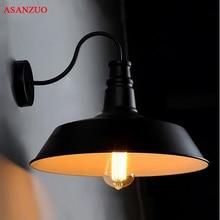 Lámpara de pared industrial retro americana, lámpara de calle antigua, dormitorio, pasillo, balcón, lámpara de pared de hierro creativa