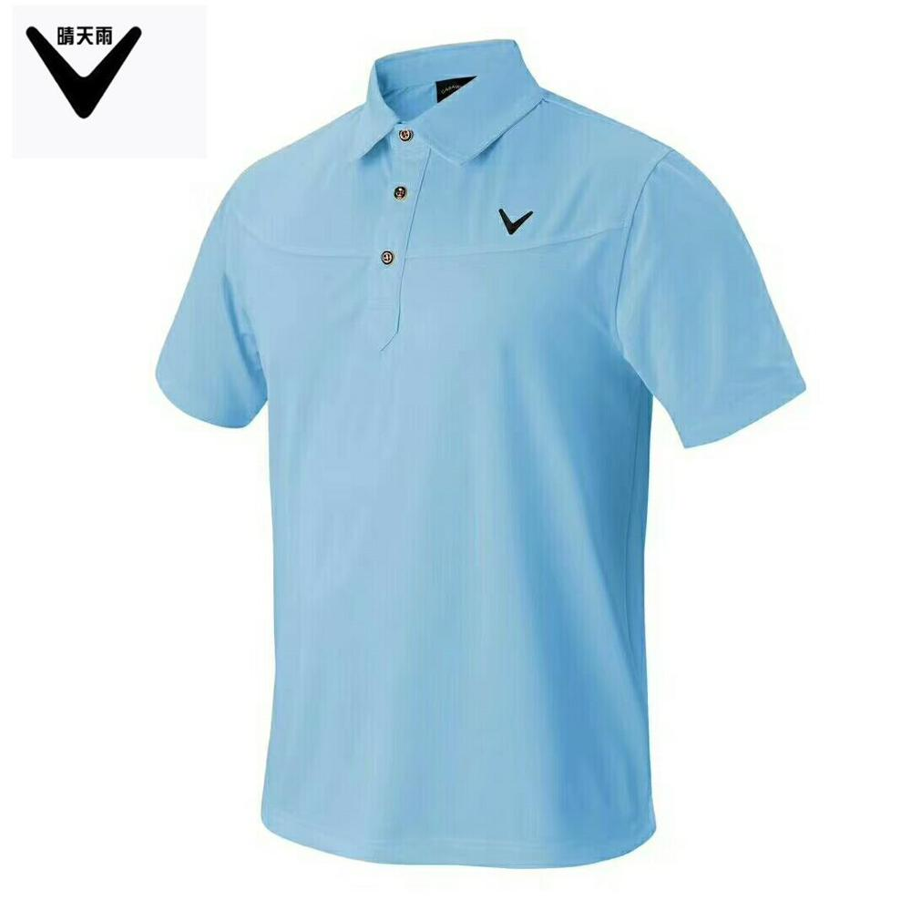 CALLAWAV Mens Golf T-shirt short sportwear outdoor Shirts summer Quick-dry breathable Short sleeve Button collar Golf Shirts