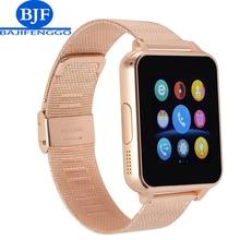 Apoyo Reloj Inteligente Bluetooth Smartwatch Para Android teléfono SIM TF Tarjeta whatsapp PK GT08 Correas de acero V8 para Samsung/huawei teléfono