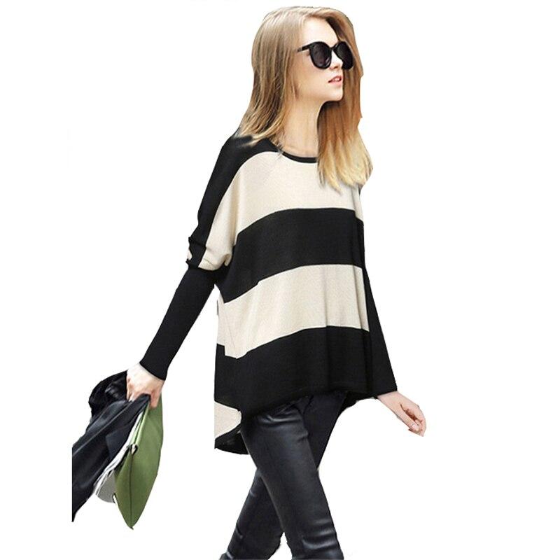 2015 otoño nuevas mujeres europeas y americanas de jersey de manga murciélago cu