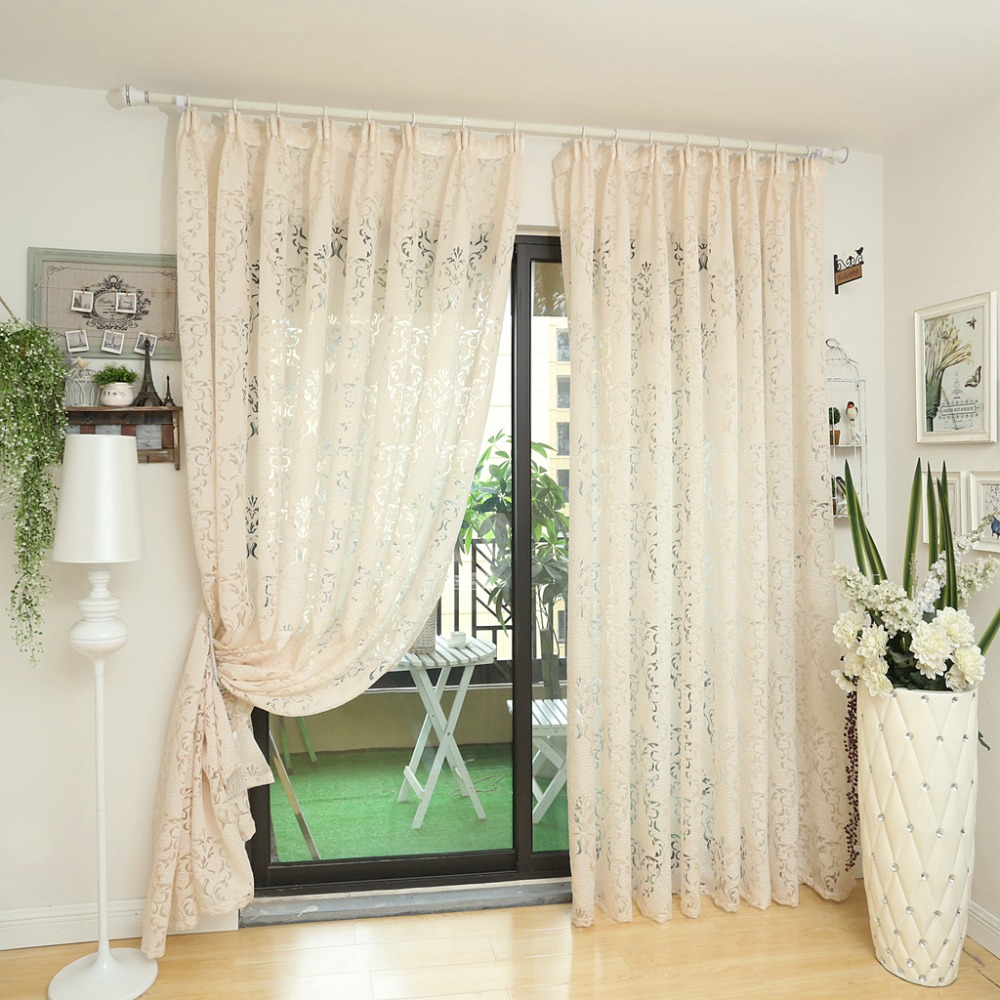 Modern Curtain Kitchen Ready Made Curtains Custom Made Window Living Room  Blind Panel Balcony White Curtains In Curtains From Home U0026 Garden On ... Part 83