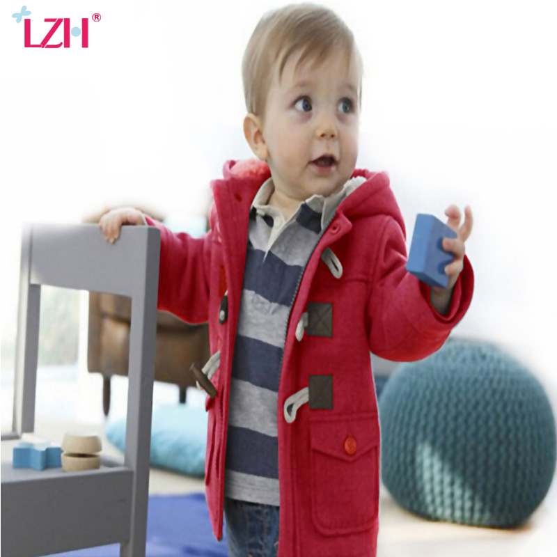 LZH Baby Boys Jacket 2017 Autumn Winter Jacket For Boys Coats Children Warm Hooded Outerwear Coat Kids Jackets Baby Boys Clothes