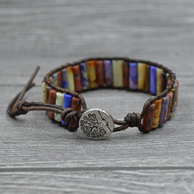 Hot Sale Bohemia Bracelet Leather Women Life Tree Multilayer Woven Natural For Accessories Wholesale
