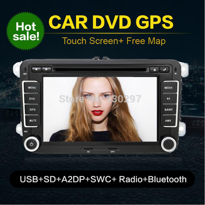 2din VW Tiguan / Scirocco /Touran Car DVD player, GPS Headunit Radio RDS Ipod A2DP BT 2DIN Stereo CD VCD Player parking автомобильный dvd плеер isudar 2 din 7 dvd ford mondeo s max focus 2 2008 2011 3g gps bt tv 1080p ipod