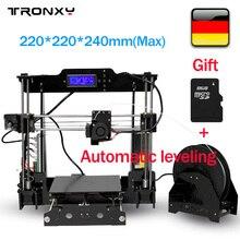Tronxy автоматическое выравнивание 3D принтер 220*220*240 мм Точность RepRap Prusa i3 3D принтер DIY Kit + 1 рулон нити 8 ГБ SD карты печати