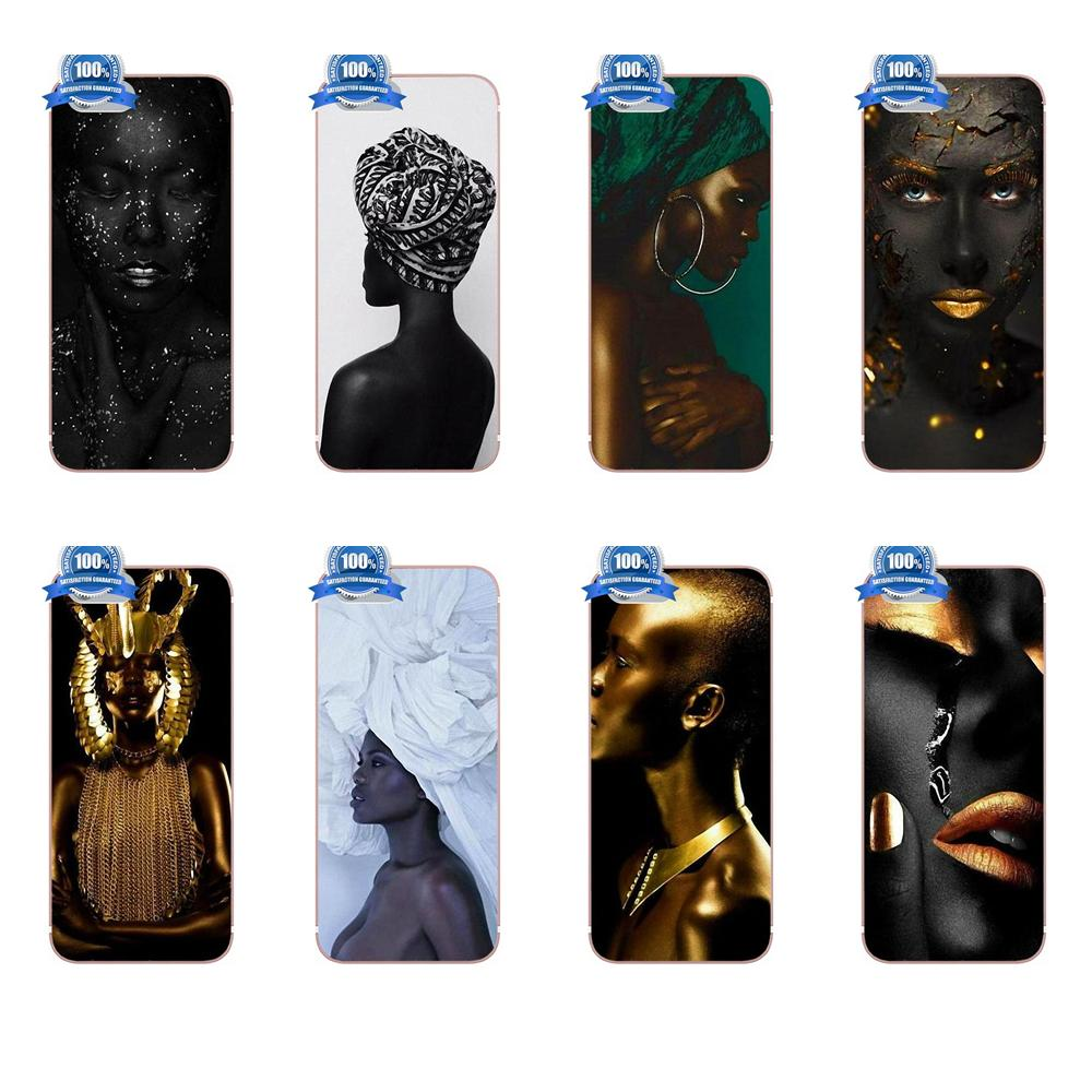 Bixedx Hot African Women TPU Phone Coque For Apple iPhone X 4 4S 5 5C SE 6 6S 7 8 Plus Galaxy Grand Core II Prime Alpha