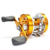 Voll Metall Doppel Bremse Fly Trolling Fishing Reel Griff Knob Karpfen Links/Rechts 2 + 1BB 4.2: 1 eis Angeln Spinning Köder Rollen