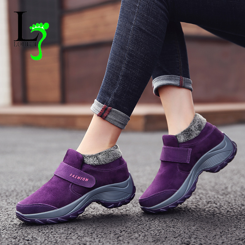 Women Snow Boots Short Plush 2019 Winter Shoes Women Flat