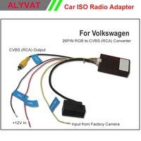 26 PIN RGB naar CVBS (RCA) AV Converter voor Volkswagen Fabriek Originele Camera Output te Derde Deel OEM/Na Markt Hoofd Unit DVD