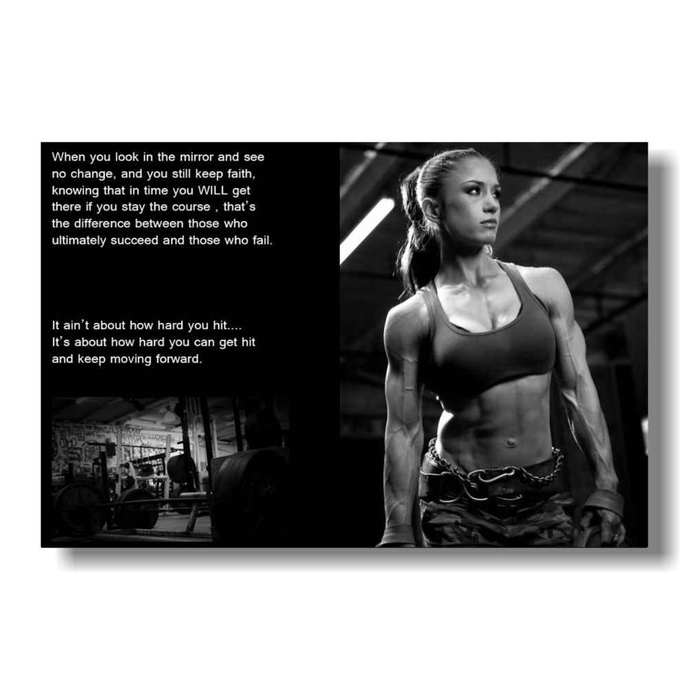 セクシーな女性フィットネスボディービルモチベーション生地布圧延壁ポスター印刷サイズ: 80 × 120 センチメートル