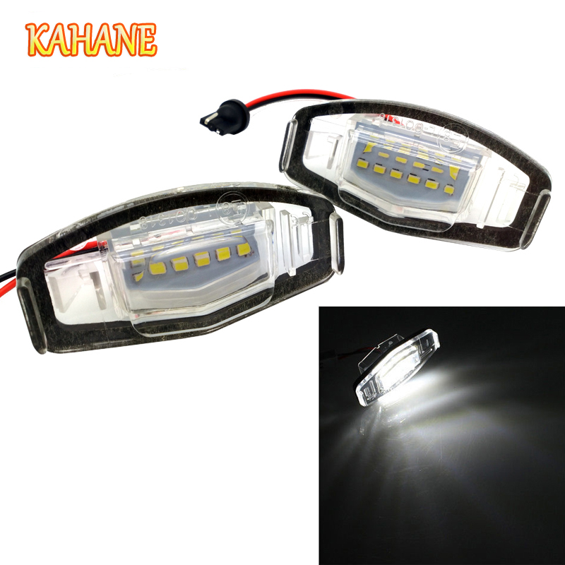 KAHANE 2x 18 LED License Plate Light Lamp White Error Free License Plate Light For Honda Accord Acura Civic City MK4 MR-V/Pilot