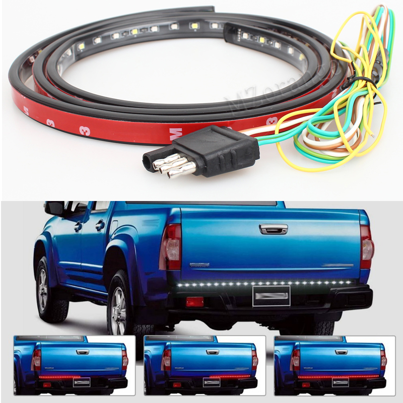 60 Red/white Tailgate LED Strip Light Bar Truck Reverse Brake Turn Signal Tail for 2003-2012 Dodge Ram 1500 2500 3500 4500 550 car tail gate signal turn brake led strip light 49 inch 72smd door light strip 12m for pick up truck ip65 waterproof 2 5w lights