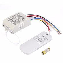 3 Way ON/OFF Switcher Splitter Digital RF Remote Control wall Switch Wireless 220V For Light Lamp Anti-Interference White(China)