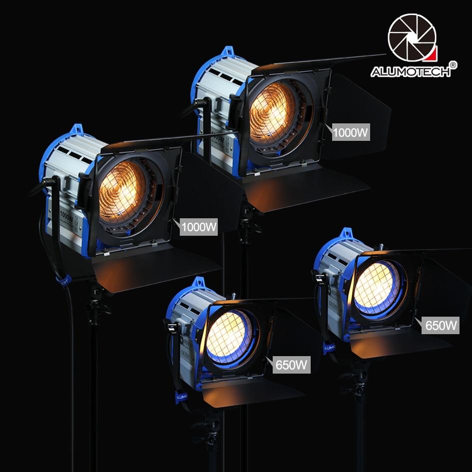ALUMOTECH (650 w + 1000 w) x2 Gradateur Intégré De Fresnel Tungsten Spot light pour film caméra vidéo
