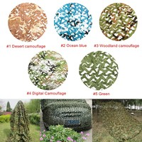 5x3m Outdoor Military Camouflage Net Camo for Hunting Covering Camping Woodlands Leaves Hide Sun Shelter Car cover