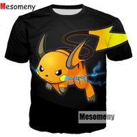 Mesomeny Cute Cartoon Pokemon T Shirts Squirtle 3D Print T Shirt Men Women Summer Style Casual