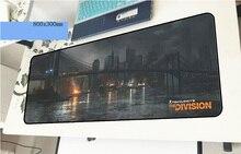 Tom clancy's The Division геймерский коврик для мыши большой 800x300x3 мм игровой коврик для мышки для ноутбука Аксессуары для ноутбука padmouse эргономичный коврик