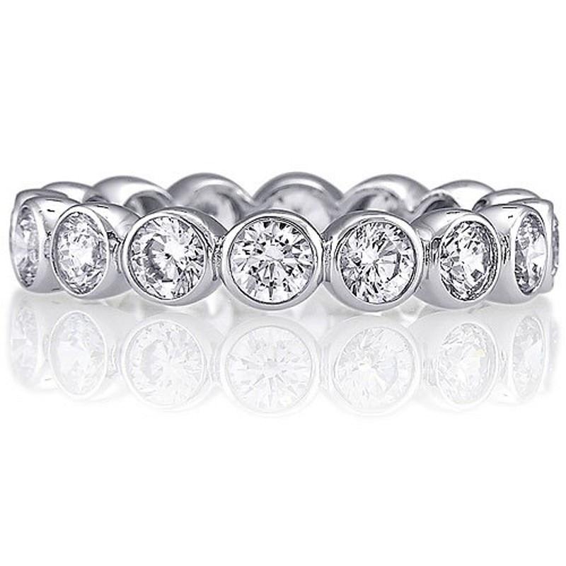 Vecalon Moda Femminile Wedding Bands Anello Dell'argento Sterlina 925 3mm 5A Zircone Sona Cz anelli di Fidanzamento per le donne Dito gioielli