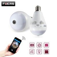 Bulb Light Wireless IP Camera Wifi Home Security 1 3MP 960P Fisheye 360 Degree Panoramic P2P
