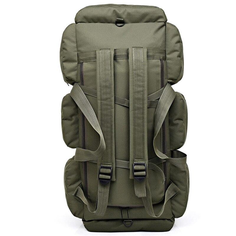 Sac à dos tactique militaire pour hommes de grande capacité 90L sac à bandoulière étanche pour bagages à main sac à bandoulière Oxford randonnée Camping sac de voyage - 4