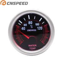 Envío Gratis CNSPEED 12V 2 ''52mm medidor automático de temperatura del agua 40-120C lente de humo Universal con Sensor de temperatura del agua coche medidor de coche