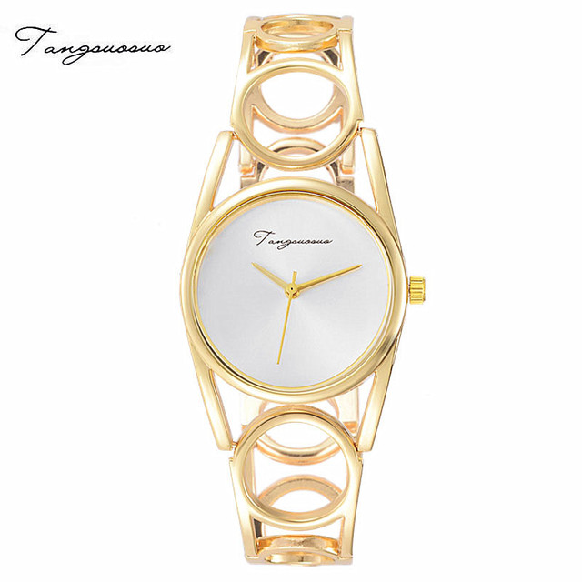 New Luxury Brand Women Quartz Watch montre femme Gold Design Bracelet Watches La