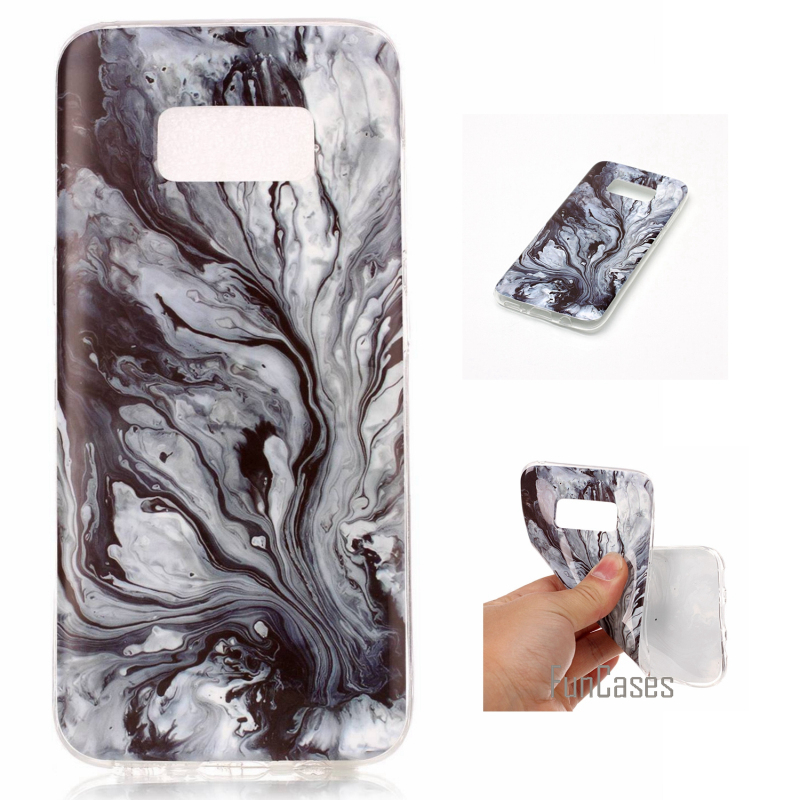 For Samsung Galaxy S8 Case Marble Stone image Painted Silicon Soft Cover For Samsung S8 5.8 Mobile Phone Bags Funda