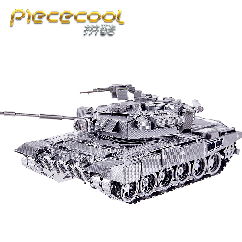 Original Piececool 3D Metal Puzzles Field Operations T90 TANK 6 Stars Level Model Kits DIY Funny Gifts For Kids Toys