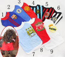 1pcs dogs cats fashion vest clothes doggy Soccer Jersey t shirt clothing puppy sport vests apparel puppy costume XS-XXL