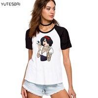 Bad Girls Alice Snow White The Little Mermaid Princess T Shirt Cotton Casual Shirt Top Tee