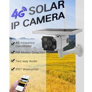 Image 2 - DHL bezpłatna bezprzewodowa karta GSM 4G SIM zasilana energią słoneczną kamera IP wbudowana bateria HD 1080P wodoodporna bezpieczeństwo zewnętrzne kamera telewizji przemysłowej YN88