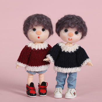 New Clothes Sweater For OB11 Mini  lovely Doll Knitted Woven Tops 1/12 BJD Doll clothes coat doll Accessories cute animal outfit for bjd doll 1 12 pukipuki doll clothes