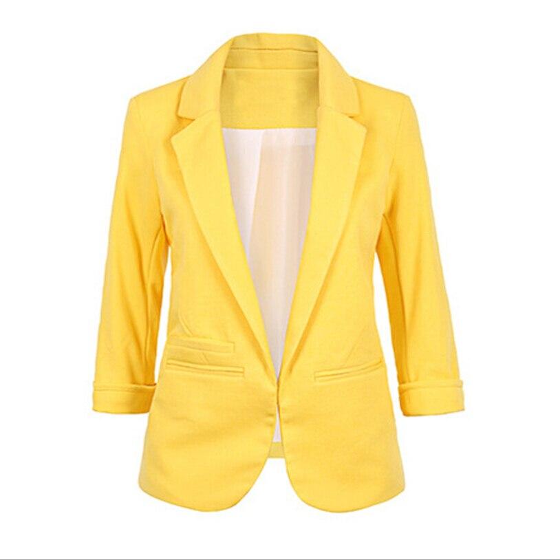 Ouvert avant cranté Blazer 2019 automne femmes vestes formelles bureau travail Slim Fit Blazer blanc dames costumes 11 couleurs taille S-XXL