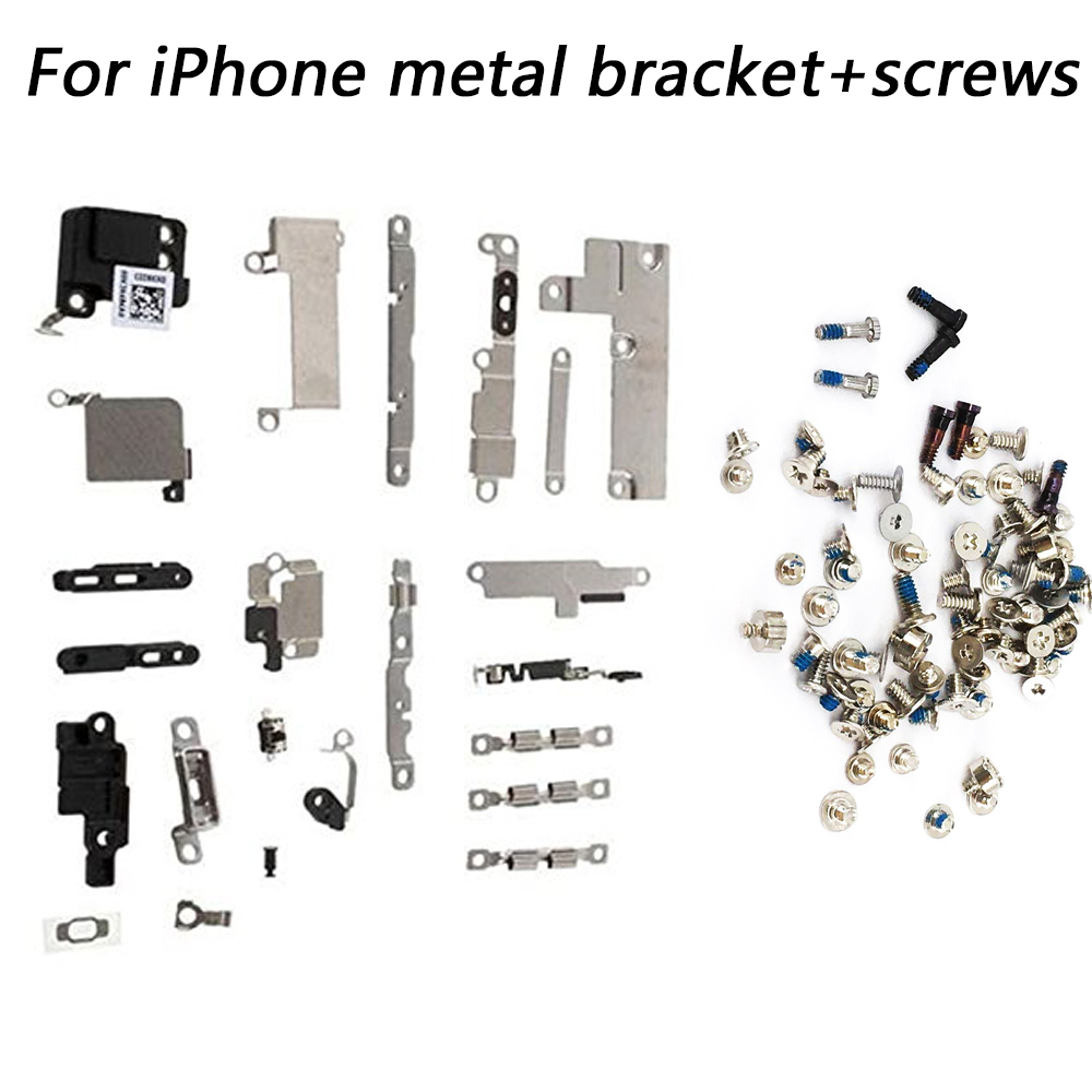 For Iphone 5 5c 5s 6 6S 7 8 Plus X Full Set Small Metal Internal Bracket Shield Plate Kit Small Metal Parts +full Set Screws