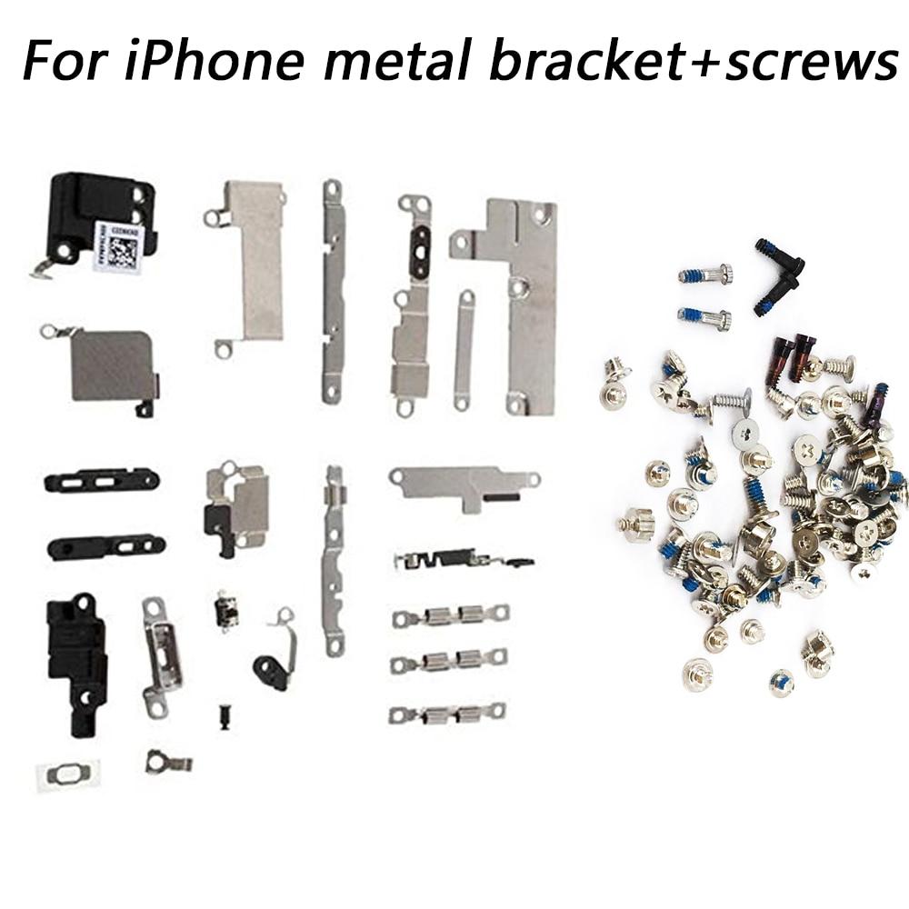 For Iphone 5 5c 5s 6 6S 7 8 Plus X Full Set Small Metal Internal Bracket Shield Plate Kit Small Metal Parts +full Set Screws