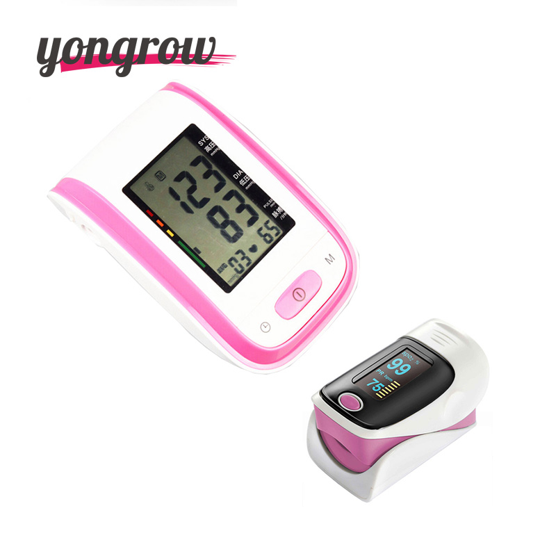 Yongrow Blood Pressure Monitor Portable Fingertip Pulse Oximeter Pressure Gauge Meter oximetro de pulso de dedo pulsioximetro pc 60b5 oximetro de dedo pulse oximeter blood saturometro monitor spo2 pr oximetro de pulso portable pulsioximetro