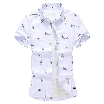 Blouse Mens Dress Shirts Short Sleeve Summer Floral Hawaiian Shirt Mens Clothing Loose New Camisa masculina Plus size 6XL 7XL hawaiian shirt men camisa social flower summer long sleeve new model shirts mens floral blouse men clothing