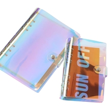 A5 A6 6 Holes Binder Folder File Cover For Journal Note Book Diary Notepad PVC  Notebook