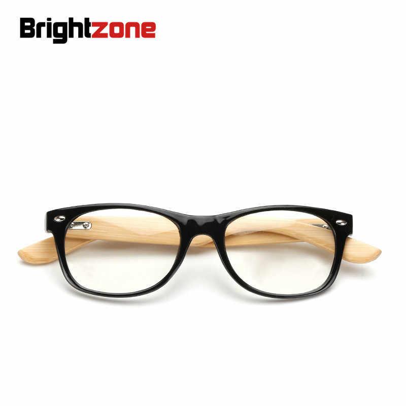 Brightzone, новинка, ручная работа, натуральный бамбук, прозрачный компьютер, Ретро стиль, прозрачные очки, деревянная нога, заклепки, черная оправа, женские, мужские очки