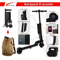 200W Electric Scooter Patinete Electrico Adulto Electric Skateboard LCD Citycoco USB Charger Folding E scooter Strong Power Bike