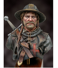 Assembly Scale 1 10 Knights Hospitaller after fighting figure WWII Resin Model Free Shipping Unpainted