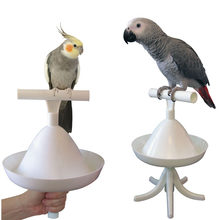 CAITEC Parrot Stand Bird Toys Portable Perch and Training Tool Light Weight Bird Stand Safe Sturdy Tool for All Sizes Parrots